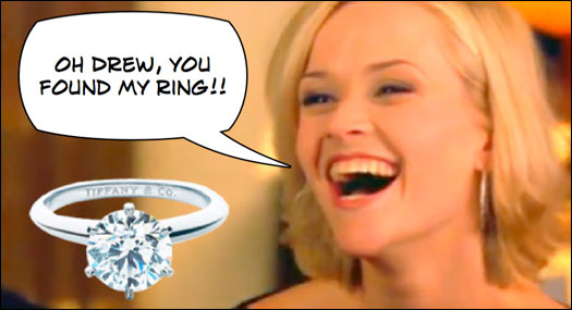 Oh Drew! You found my ring!