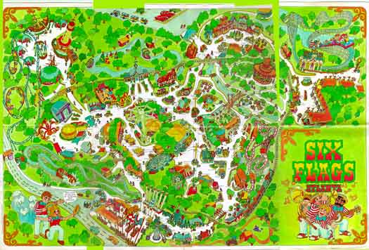Six Flags Map from the Seventies