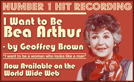 Geoffrey Brown Sings About Bea Arthur