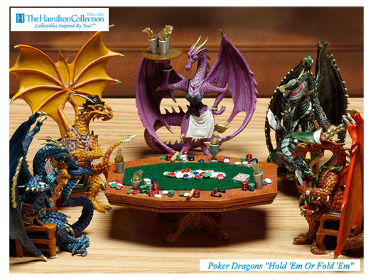 Dragons Playing Poker