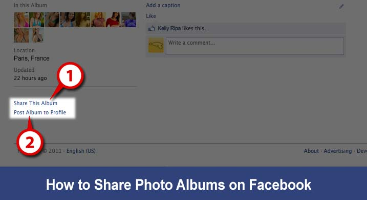 Sharing Albums on Facebook