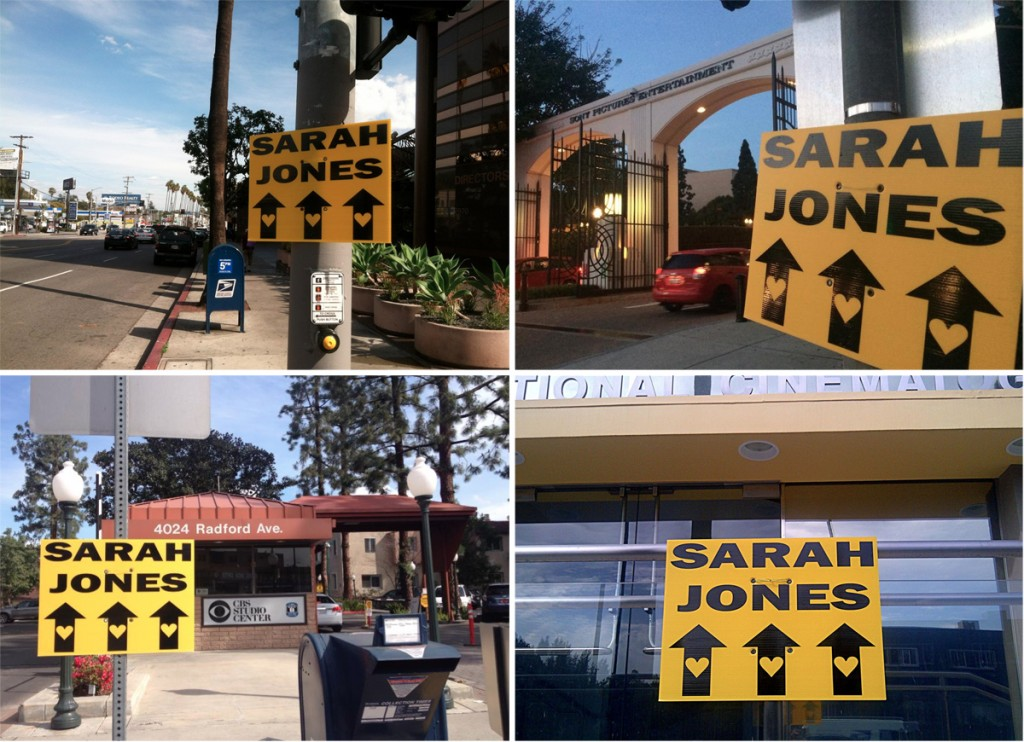 Sarah Jones Location Signs around Hollywood