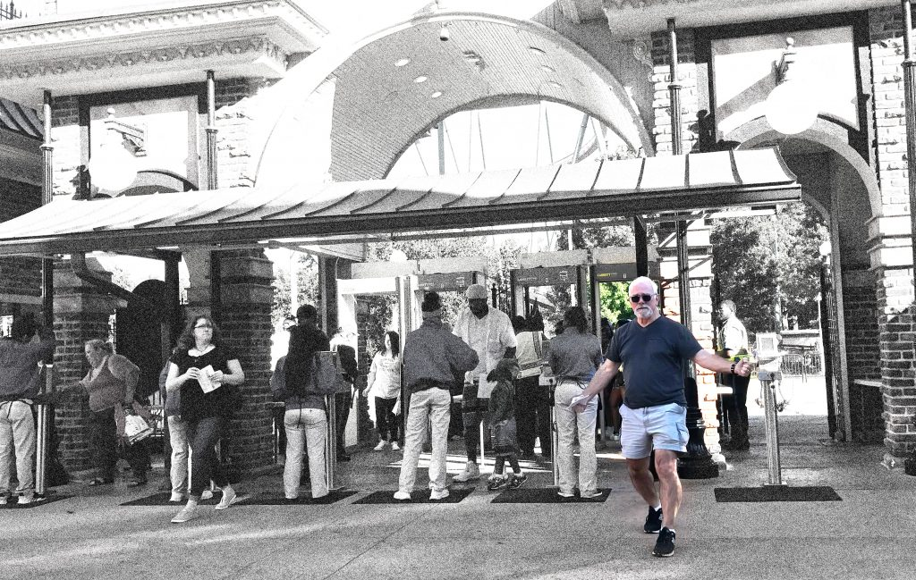 Dwight Benjamin-Creel arrives at Six Flags