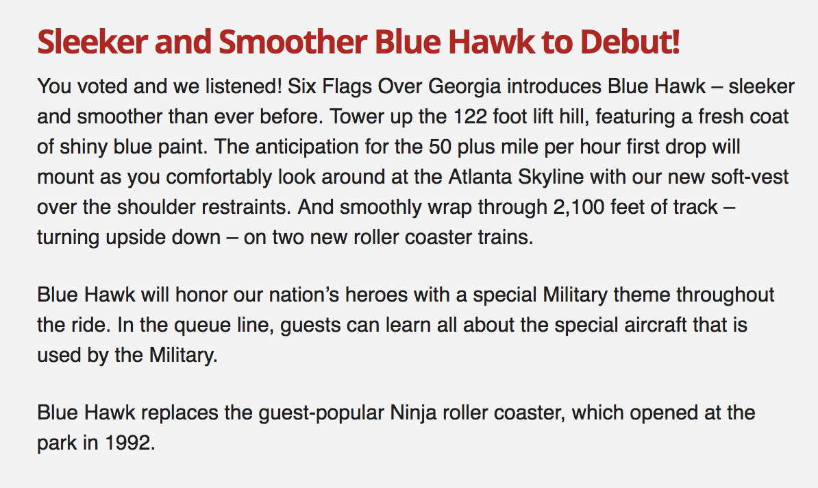 Sleeker and Smoother Blue Hawk to Debut