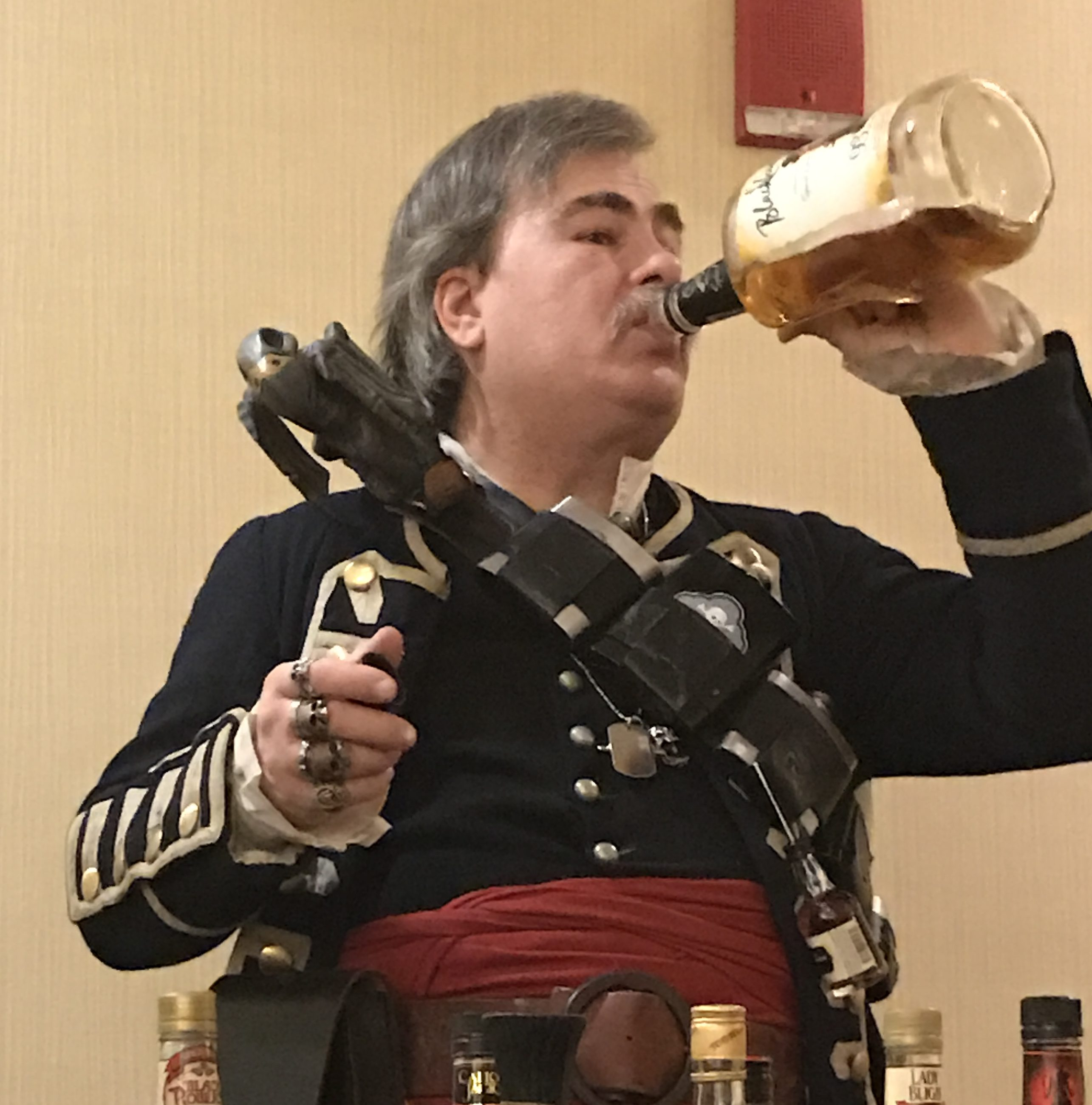 Captain Rumpot drinks Blackheart Rum