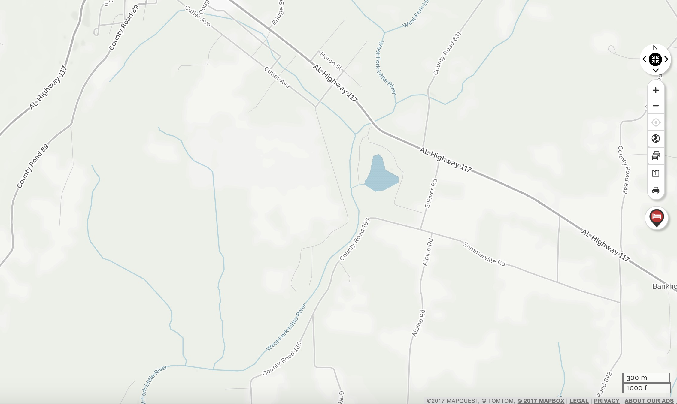 Mentone, Alabama, on MapQuest Maps