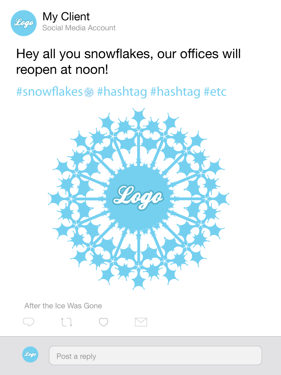 An inadvisable pun using the word snowflakes.