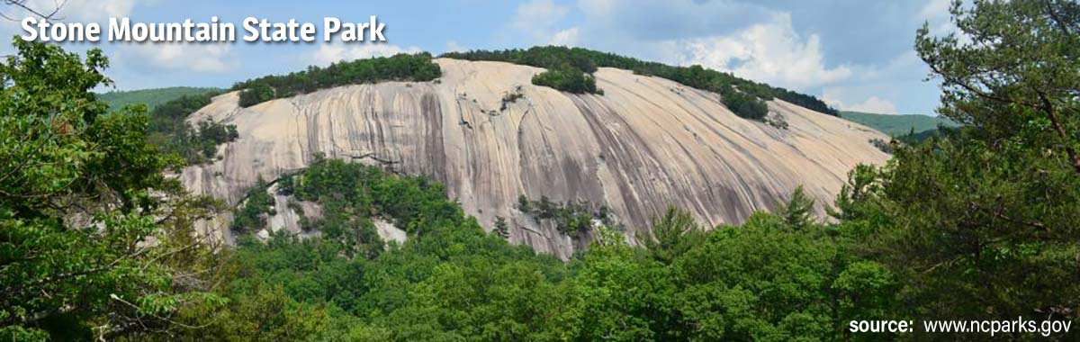 Stone Mountain North Carolina - from NC state website