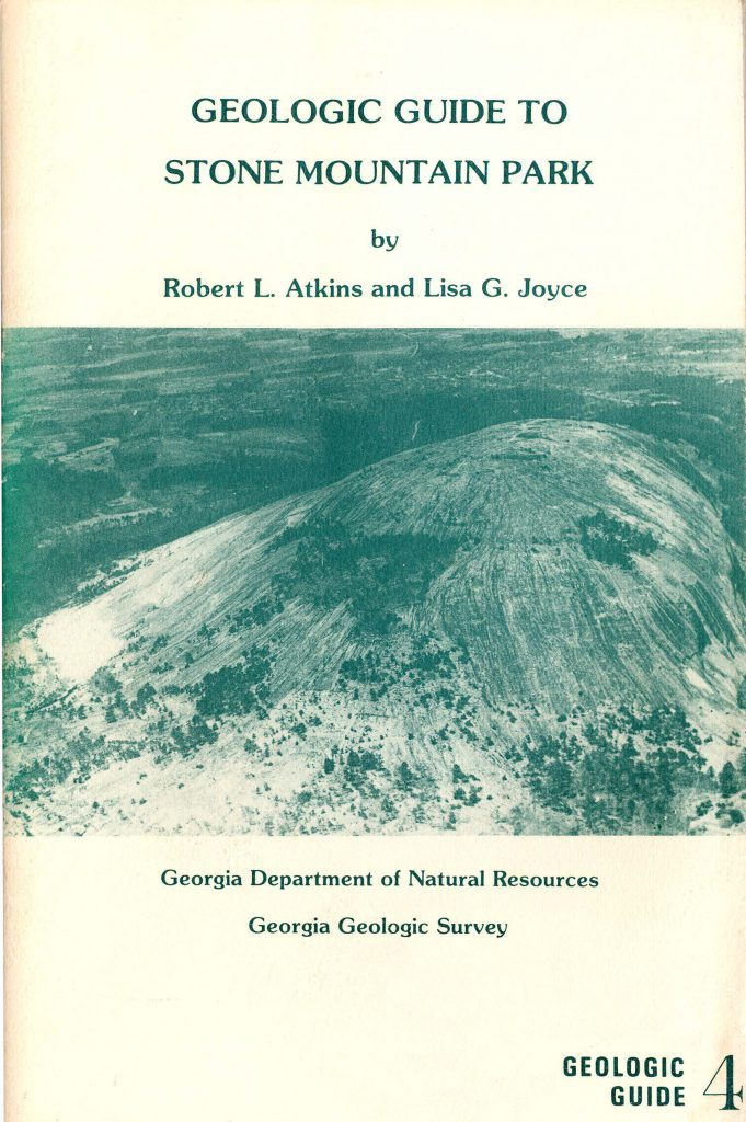 """Cover art for """"Geologic Guide to Stone Mountain Park"""""""