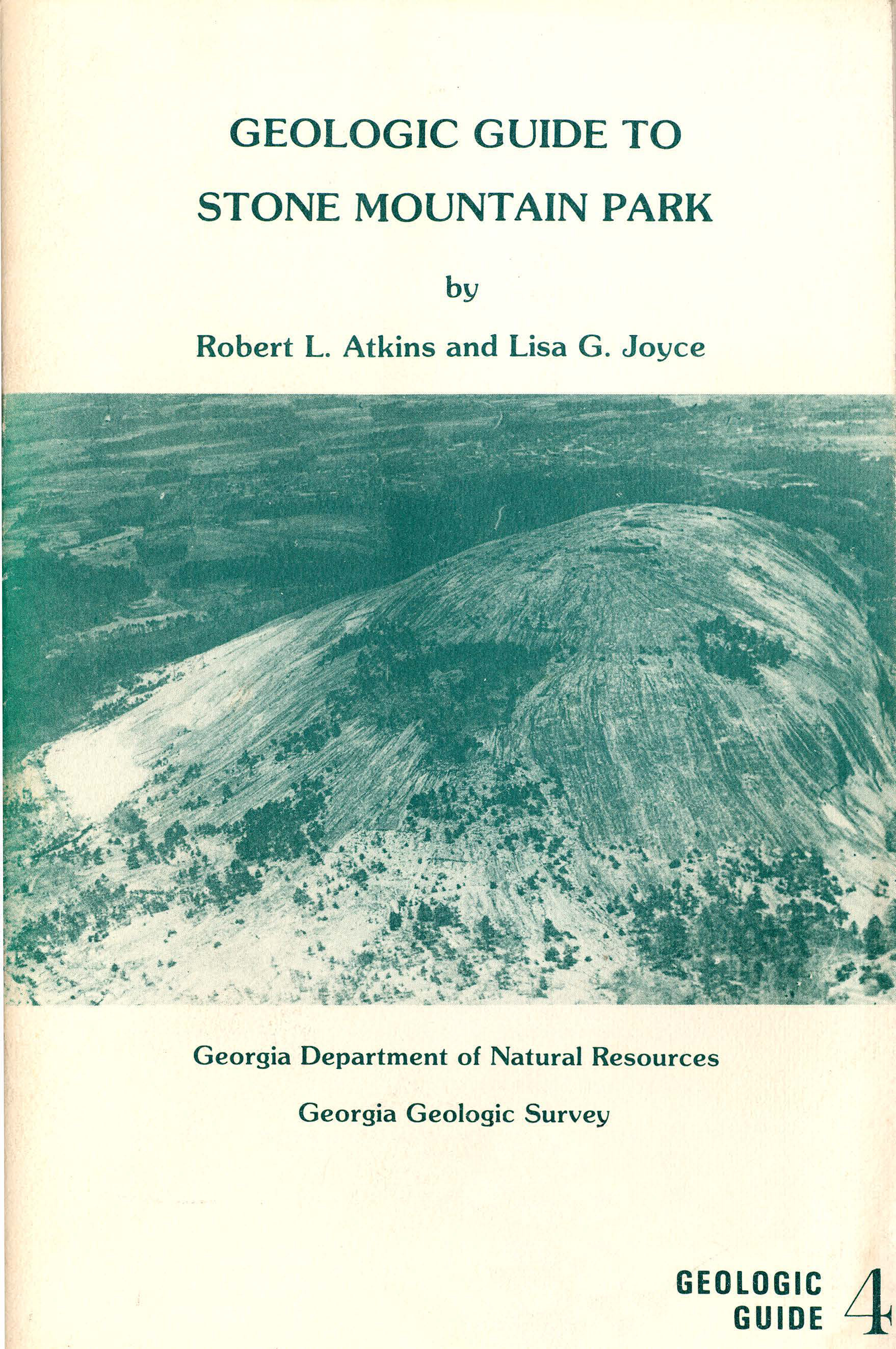 "Cover art for ""Geologic Guide to Stone Mountain Park"""