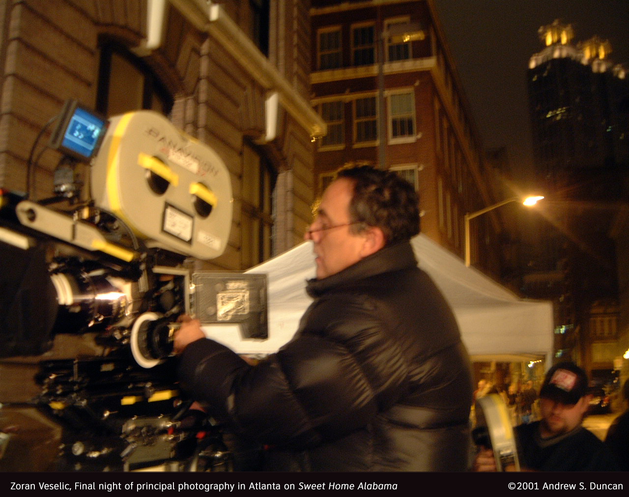 Zoran Veselic, Final night of principal photography in Atlanta on Sweet Home Alabama