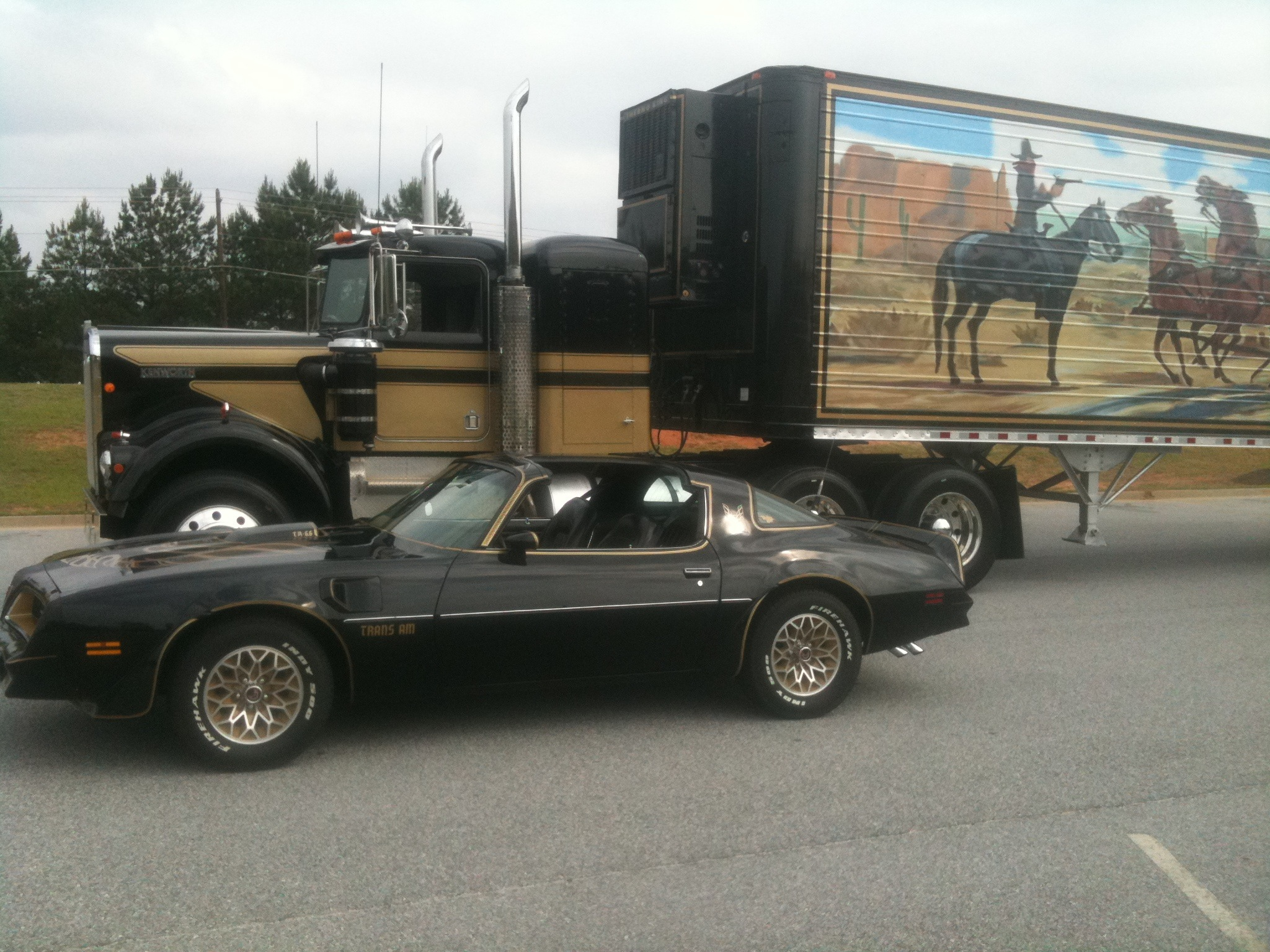 The iconic Trans Am and big rig, together again.