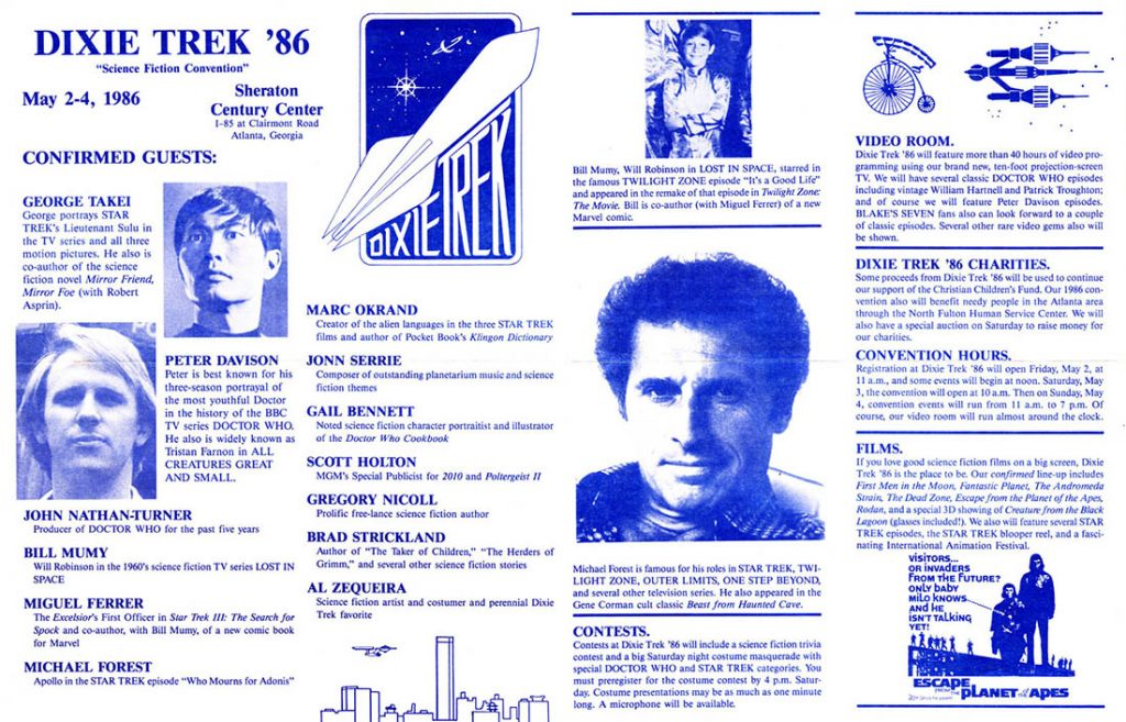Program for DixieTrek 1986, most of the big names here appear in this video!