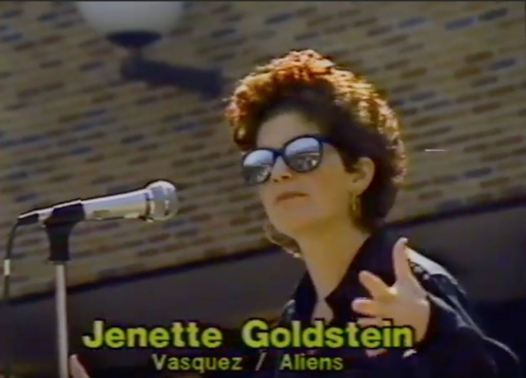 Actress Jenette Goldstein from the film Aliens.