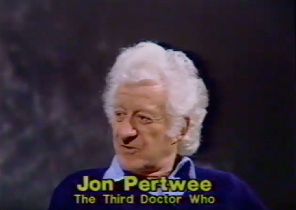 There's a great interview with actor Jon Pertwee, who portrayed the 3rd Doctor in the popular Doctor Who series.